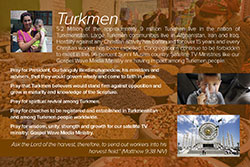 Prayer Card: Turkmen