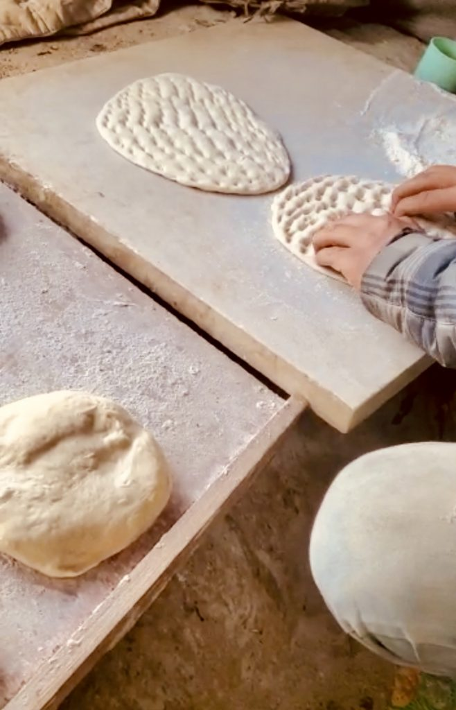 Handmade bread at Moria refugee camp in Lesvos Greece
