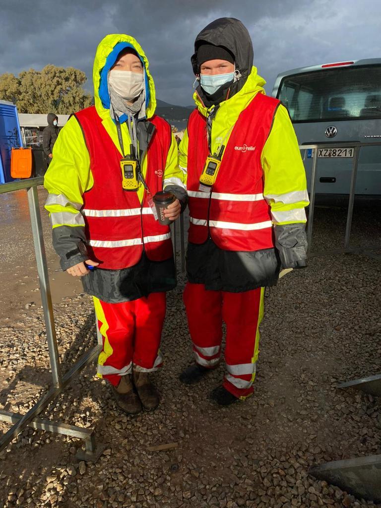 Covid Eurorelief workers help refugees Lesvos Moria Greece