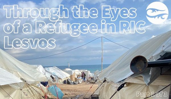 Island of Lesvos tents for refugees Lesvos Greece