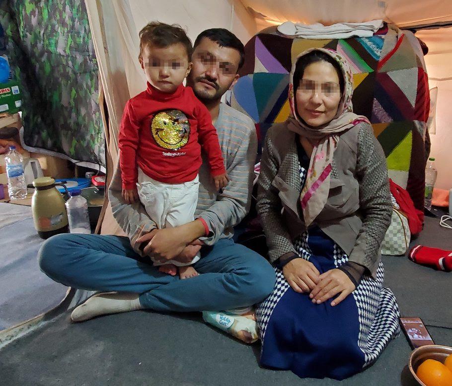 Afghan man fleeing Taliban finds refuge Lesvos refugee family